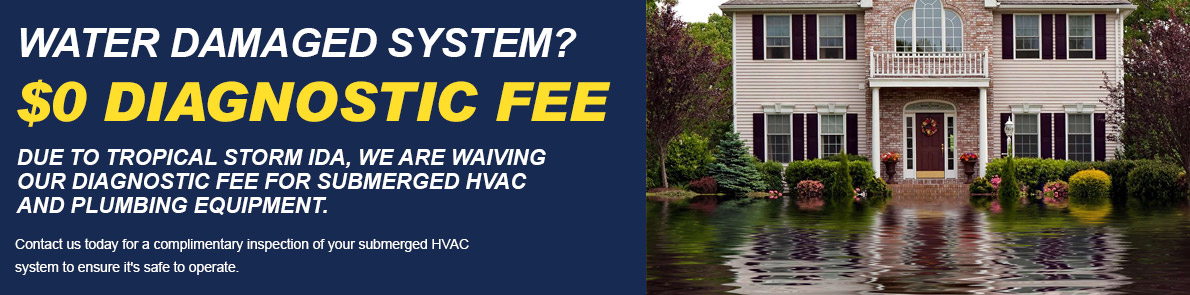 $0 Diagnostic Fee For Water Damaged Systems.